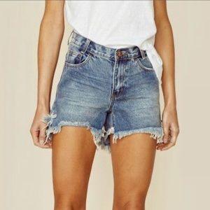 Brand New One Teaspoon Hawks Denim Shorts